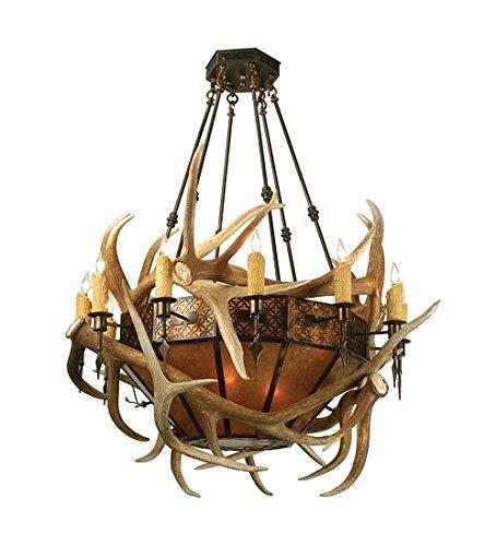 Meyda Lighting 81310 Antlers Elk 18-Light Chandelier, Copper Finish (Elk Antler Chandelier 12)