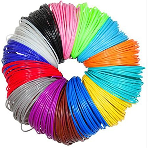 NSC 3D Printing Extruder Pen 5m ABS 1.75mm Filament Printing Materials Plastic Colorful Rainbow by NSC