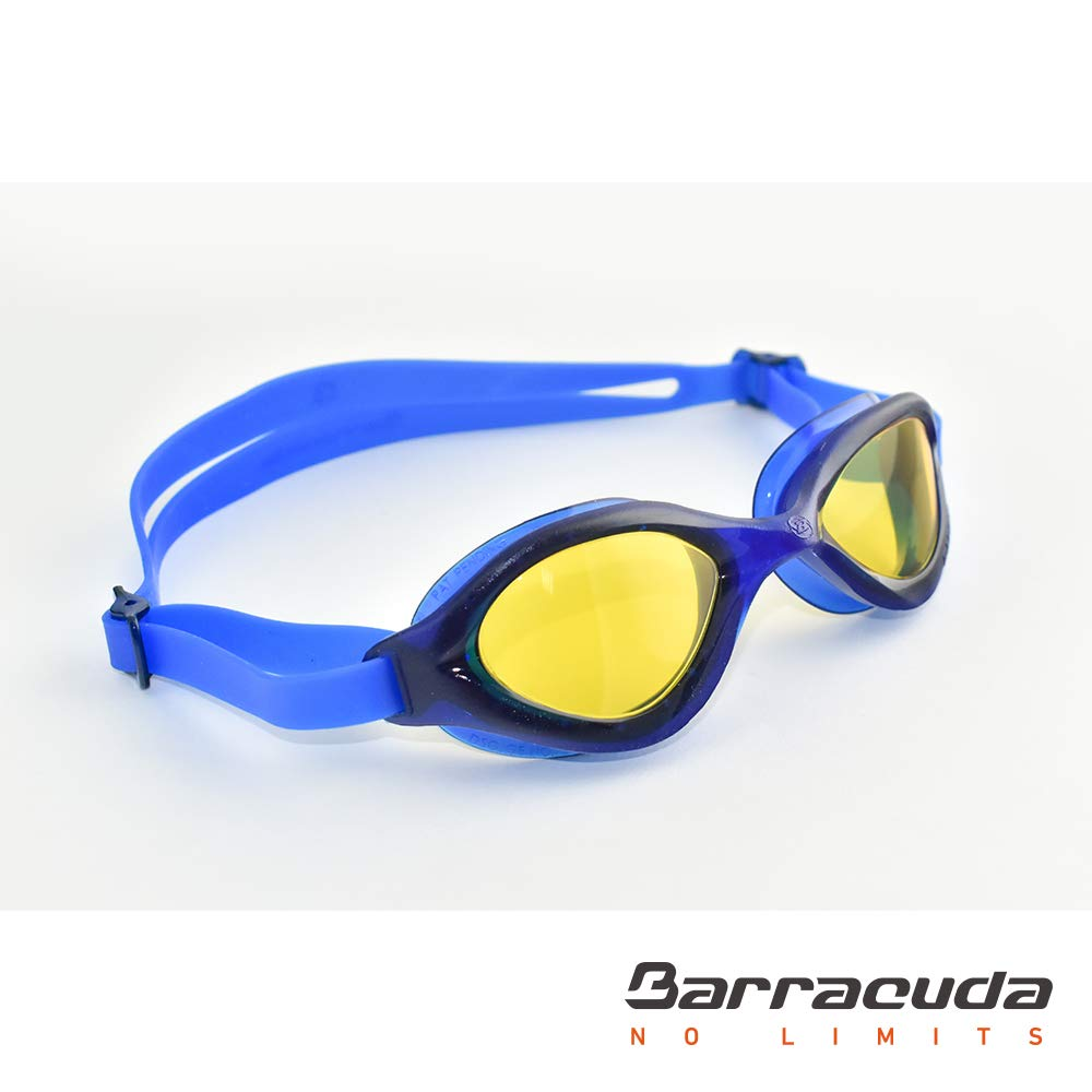 Anti-Fog UV Protection Barracuda Swim Goggle Bliss One-Piece Frame Triathlon Open Water for Adults Men Women #73320 Easy Adjusting Quick Fit Lightweight Comfortable No Leaking