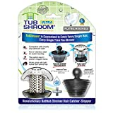 TubShroom Ultra Revolutionary Bath Tub Drain Protector Hair Catcher/Strainer/Snare Stainless