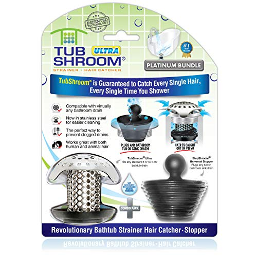 TubShroom Ultra Revolutionary Bath Tub Drain Protector Hair Catcher/Strainer/Snare