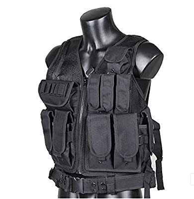 Huamost Law Enforcement Tactical Vest Adjustable Size Tactical Belt Outdoor field vest CS field protective vest