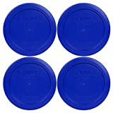 anchor 2 cup lid - 4 Pack! Pyrex Light Blue 2 Cup Round Storage Cover Item Number 7200-PC for Glass Bowls - True BlueReplacement Lid for Pyrex 2 Cup Bowls
