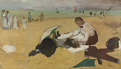 Oil Painting 'Hilaire Germain Edgar Degas Beach Scene', 30 x 53 inch / 76 x 134 cm , on High Definition HD canvas prints is for Gifts And Bar, Bed - Frames Replica Eyeglasses India