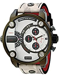 Men's 'Little Daddy' Quartz Stainless Steel and Leather Casual WatchMulti Color (Model: DZ7409)