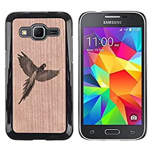 Funda Cubierta Madera de cereza Duro PC Teléfono Estuche / Hard Case for Samsung Galaxy Core Prime / Phone Case TECELL Store / Parrot Jungle Naturaleza Aves Silvestres Parrot Jungle Nature Wild Bird