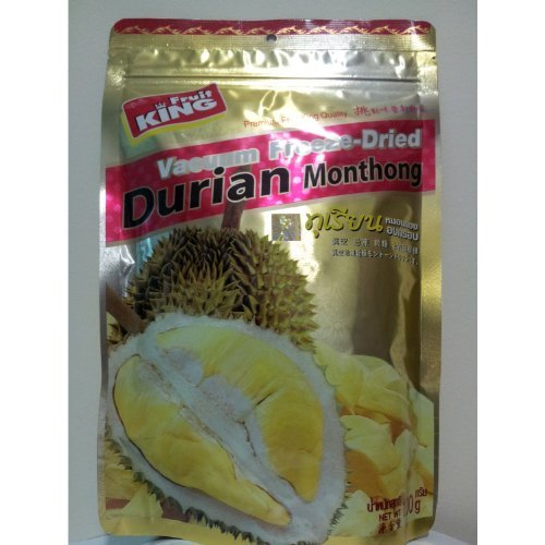 King Fruit Vacuum Freeze Dried Durian Monthong Fruit - 3.5Oz (100g) (5 Bags) by  (Image #1)