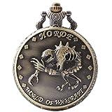 VIGOROSO Engraved Horde World of Warcraft Steampunk Necklace Pendant Vintage Pocket Watch