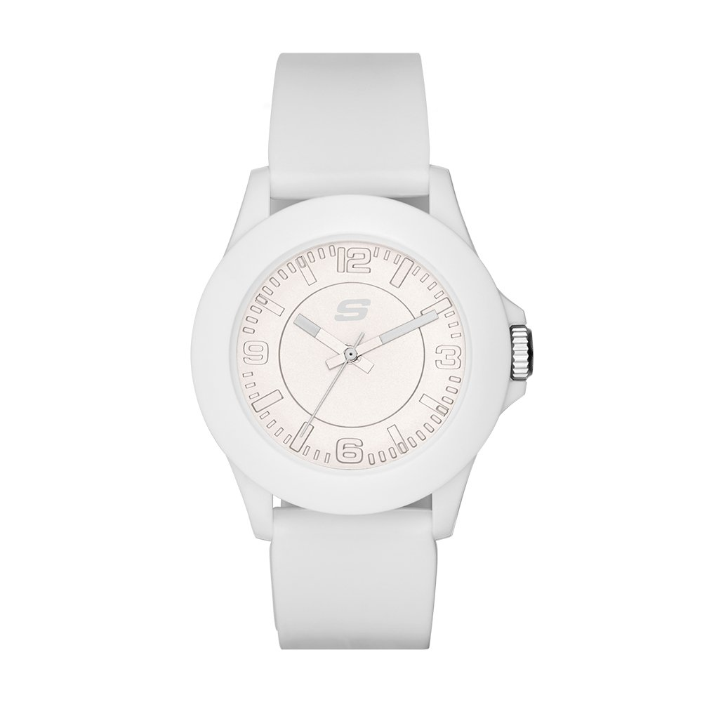 ویکالا · خرید  اصل اورجینال · خرید از آمازون · Skechers Women's Rosencrans Mid Quartz Plastic and Silicone Casual Watch Color: White, 22(Model: SR6023) wekala · ویکالا