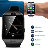 Smartwatch Unlocked Watch Cell Phone All in 1 Bluetooth Smart Watch with Camera Handsfree Call for Samsung Sony LG HTC Motorola Huawei and other Android Smartphones Men Women Boys Girls Birthday Gift