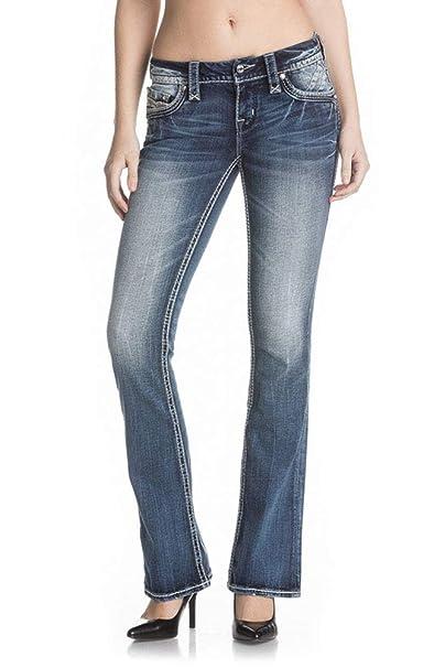 413ac3670ea Rock Revival - Mens Beliss B209 Boot Leg Jeans: Amazon.co.uk: Clothing