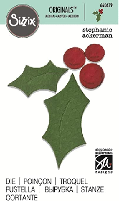 Sizzix Originals Leaves Holly with Berries #655532 RETIRED