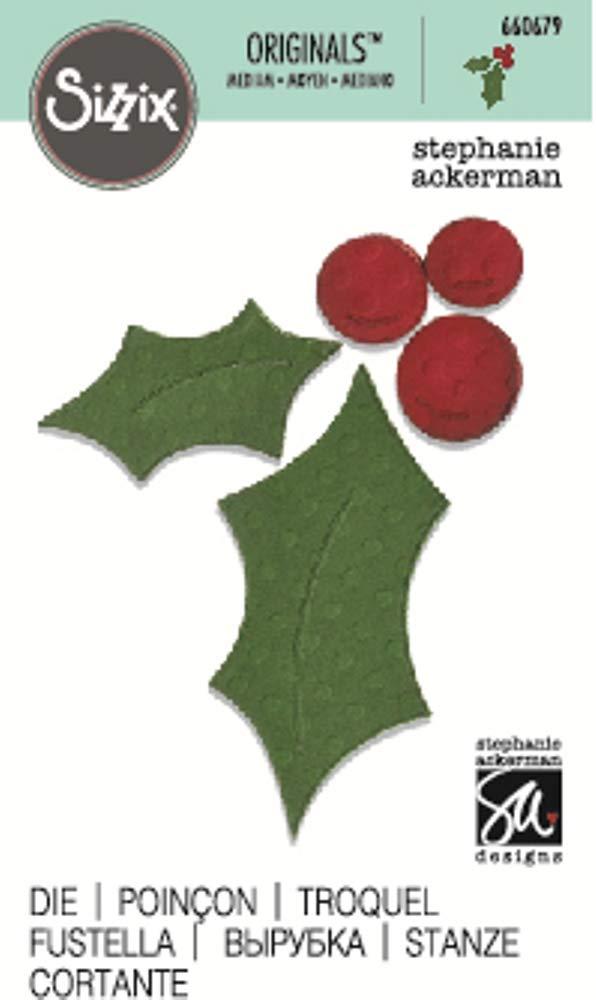 Sizzix Originals Die Holly /& Berries # 3 de Stephanie Ackerman