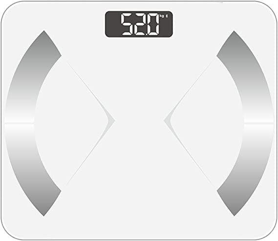 BMI 400lbs Smart Body Fat Scale Body Weight Fat Water Black LOFTER Digital Weight Scale Bluetooth Wireless Bathroom Scale 12 Body Composition Analyzer with iOS /& Android APP for Baby Mode
