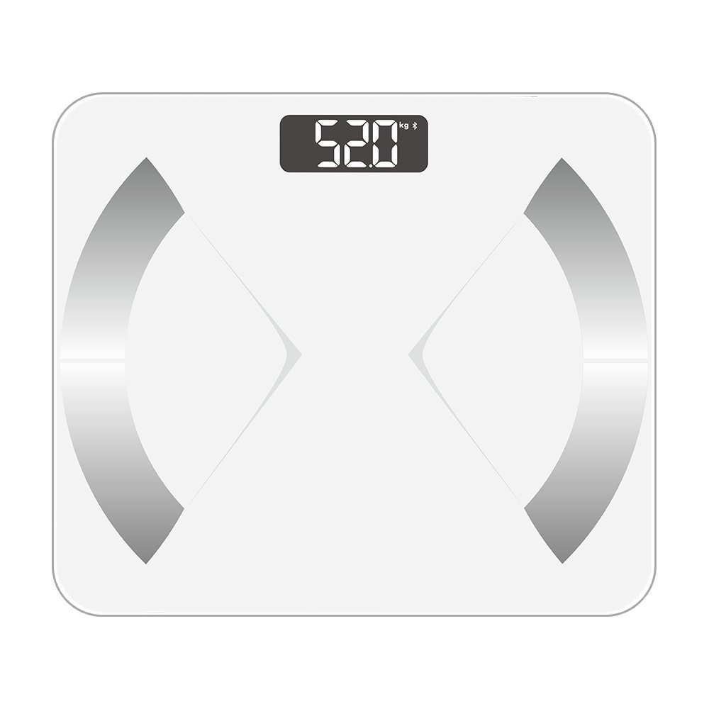 Bluetooth Smart Body Fat Scale with iOS Android App – Digital Body Bathroom Scale for Body Weight, Body Fat, Water, Muscle Mass, BMR, Bone Mass and Visceral Fat, 400 lbs, White