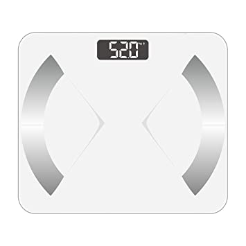 Bluetooth Smart Body Fat Scale with iOS/Android App - Digital Body Bathroom Scale for