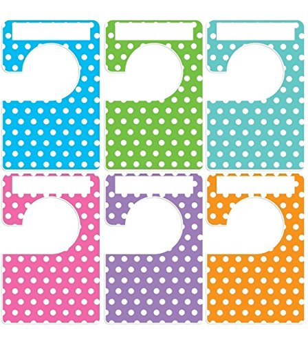 Closet Doodles 6 clothing dividers polka dot any size adult or baby Plus 48 Sorting Labels by Digitaldoodlebug