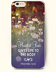 iPhone 6 Case,OOFIT iPhone 6 (4.7) Hard Case **NEW** Case with the Design of heart at peace gives life to the body proverbs 14:30 - Case for Apple iPhone iPhone 6 (4.7) (2014) Verizon, AT&T Sprint, T-mobile