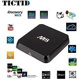 TICTID® M8 Quad Core Android 4.4 Smart Set Top TV Box 3D Blu-ray 4K Streaming Media Player Amlogic S812 2GB Ram 8GB Rom Mali450 GPU 4K HDMI 2.4G/5G Dual WiFi Ultra HD Mini PC