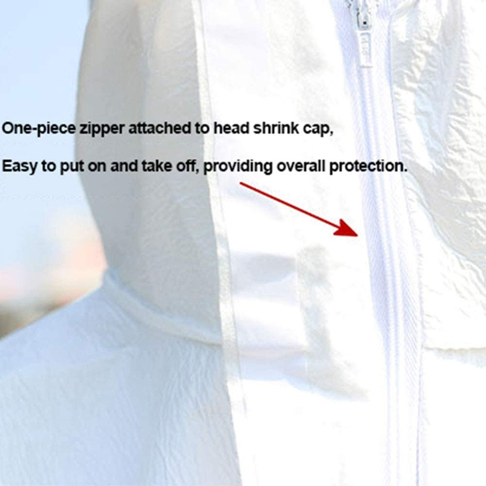 Antipolvere Abbigliamento,L Copertura del Corpo Completo con cap QIMENG Abbigliamento di Protezione ripetibile Lavabile Chimica Indumenti di Protezione