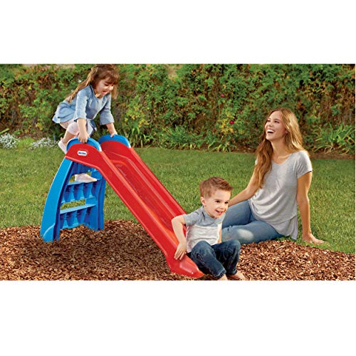 Little Tikes First Slide Toddler Slide, Easy Set Up Playset for Indoor Outdoor backyard, Easy to store, Safe Toy for toddler, Slip And Slide For Kids (red/blue)