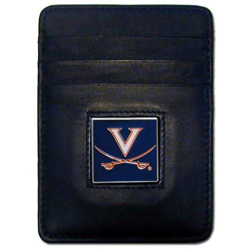 Virginia Cavaliers Money Clip - NCAA Virginia Cavaliers Leather Money Clip/Cardholder Wallet