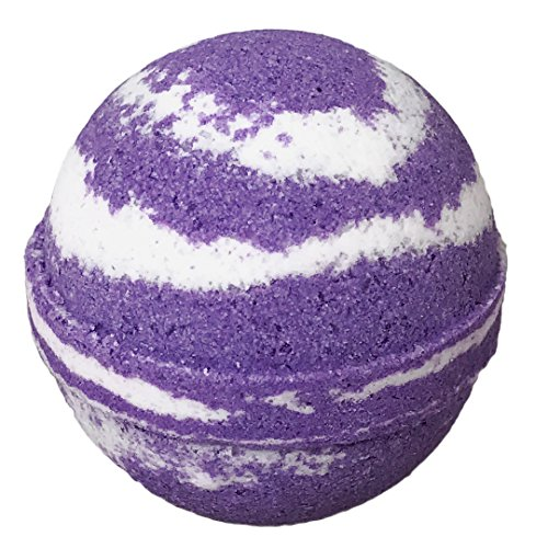 Lilac BUBBLE Bath Bomb in Gift Box - Large Lush Spa Fizzy, Best Gift Idea for Women, Moms, Teens, Girls - Homemade by Moms in the USA - Two Sisters Spa