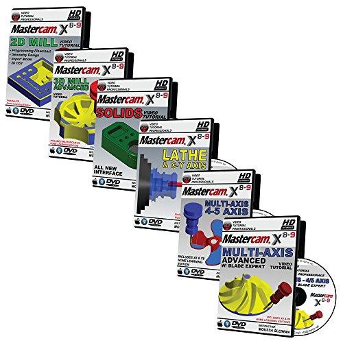 Mastercam X8-X9 2D Mill, 3D Advanced Mill, Lathe & C-Y Axis, - Import It All