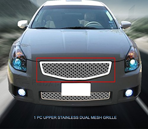 (Fedar Main Upper Dual Weave Mesh Grille for 2007-2008 Nissan Maxima)