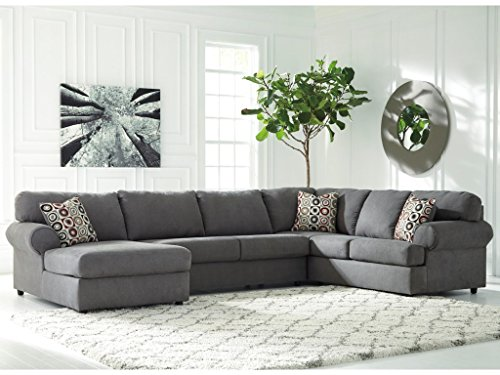 Ashley Jayceon 64902-16-34-67 3-Piece Sectional Sofa with Left Arm Facing Chaise Armless Loveseat and Right Arm Facing Sofa in (Right Loveseat Sectional)