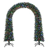 Home Heritage Windham 8' Artificial Arched Christmas Tree w/ Multicolored Lights