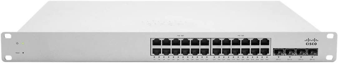 Cisco Meraki Cloud Managed Switch - MS220-24P (24-Port, POE, Requires Cloud Licensing)