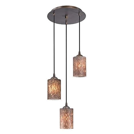 Modern multi light pendant light with brown art glass and 3 lights modern multi light pendant light with brown art glass and 3 lights aloadofball Gallery