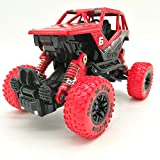 Toy car for children-Simulated four-wheel-drive shock-absorber suv climbing before and after four springs of children's alloy toy cars (red OFF ROAD)