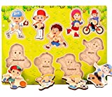 YChoice Educational Puzzle Kids Wooden Peg Puzzle Board Education Learning Toy Fantastic Gifts Kids(Sports)