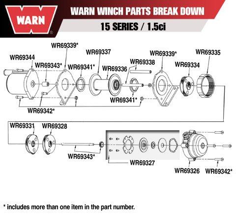 Warn Winch 1.5ci Drum Supports (Winch 1.5ci)