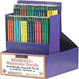 Kimberly Acid-Free Non-Toxic Water Soluble Watercolor Pencil Class Pack, Assorted Colors, Pack of 144