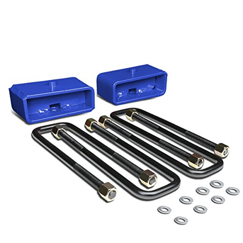 For Tacoma Blue Rear 2 inches Leaf Spring Mount Leveling Lift Kit Blocks + U-Bolts ()