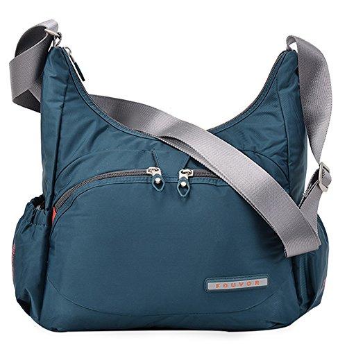 Fouvor Crossbody Hobo Bag Lightweight Waterproof Travel Shoulder Bag (258705 Blue,Medium) by Oakarbo