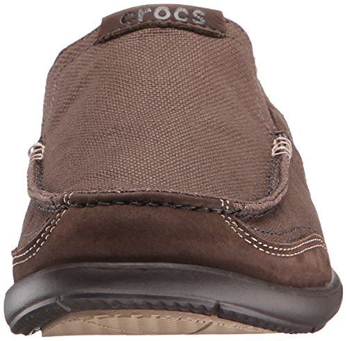 Mocassino Slip-on In Pelle Crocs Walu Espresso / Espresso