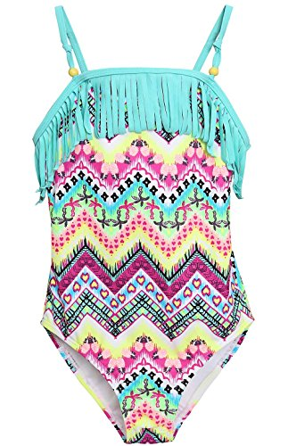 Attraco Little Hollow Out Rainbow Swimsuit