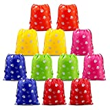 Paw Party Supplies Favors Bags Drawstring Pouches Kids Boys Girls Toddlers Birthday Party Favors 12 Pack