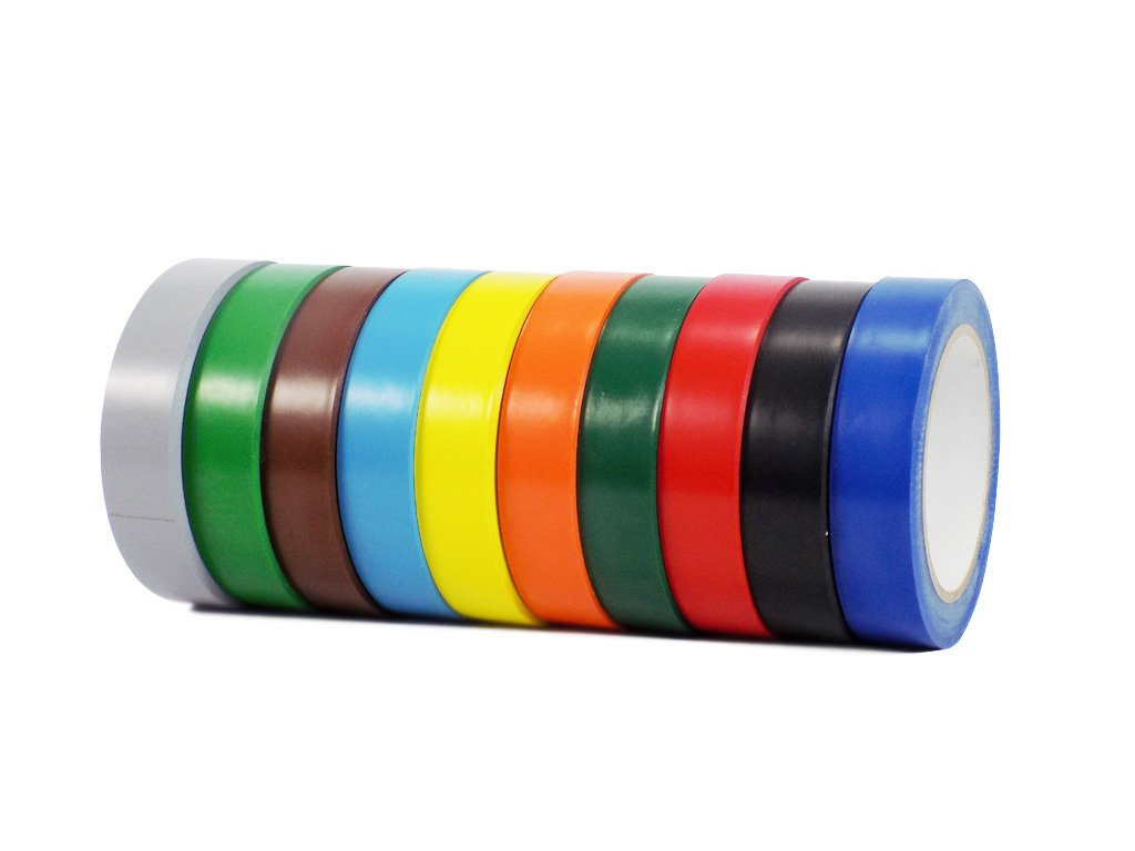 Vinyl Marking Tape 1'' x 36 yards several sizes and colors to choose from, Rainbow