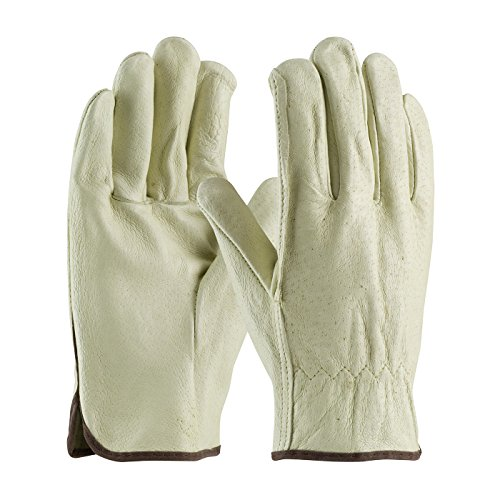 Drivers Straight Thumb - PIP 70-318/M Premium Grade Top Grain Pigskin Leather Driver's Glove, Straight Thumb