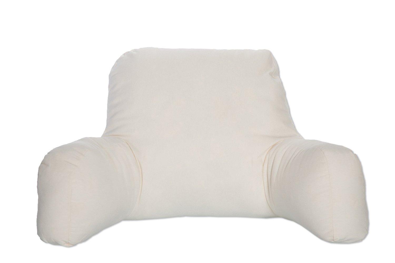 Dormio - Cojín de lectura o descanso. Relleno de fibra hueca con tratamiento antiácaros, antibacterias, antimoho y antialérgico, tamaño único