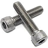 Fullerkreg M8-1.25 x 30MM Socket Head Cap Screws, Allen Socket Drive, Din 912, AISI 304 Stainless Steel (18-8), Full Thread, Bright Finish, Machine Thread, Quantity 10