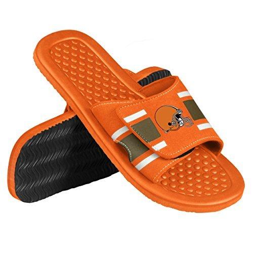2015 NFL Football Mens Stripe Shower Slide Beach Summer Sandal Flip Flops Small) Forever Collectibles