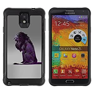 Suave TPU GEL Carcasa Funda Silicona Blando Estuche Caso de protección (para) Samsung Note 3 / CECELL Phone case / / Lion Purple Grey King Animal Nature /