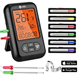 Best Dual Probe Thermometers - Wireless Meat Thermometer, Te-Rich Bluetooth Digital Food Grill Review