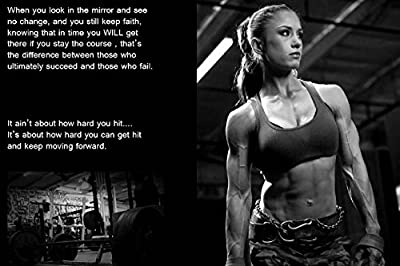 John Fashion Girl Sexy Muscle Bodybuilding Fitness Motivational Art Wall Poster Gym Decorative Painting Inspirational Picture